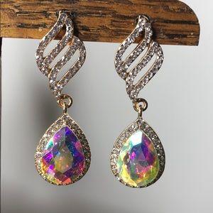 Jewelry - Formal Rhinestone Dangle Earrings